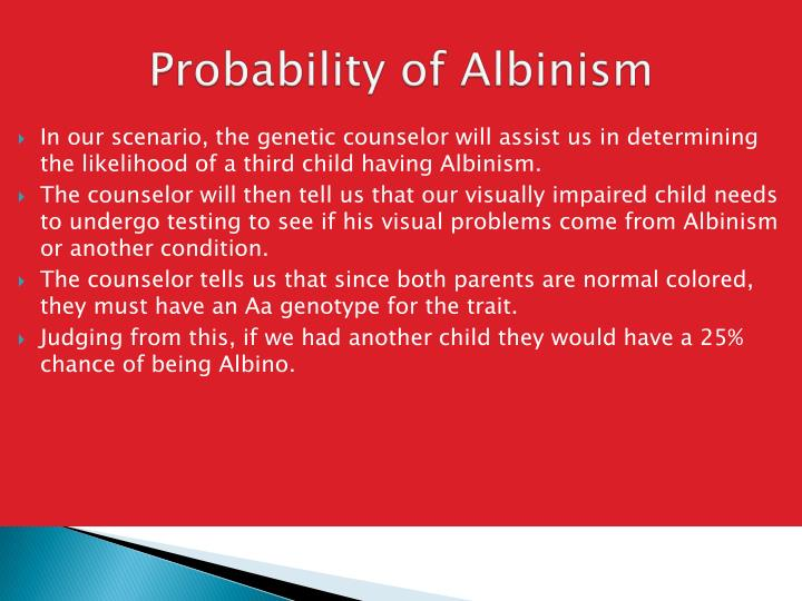 Probability of Albinism