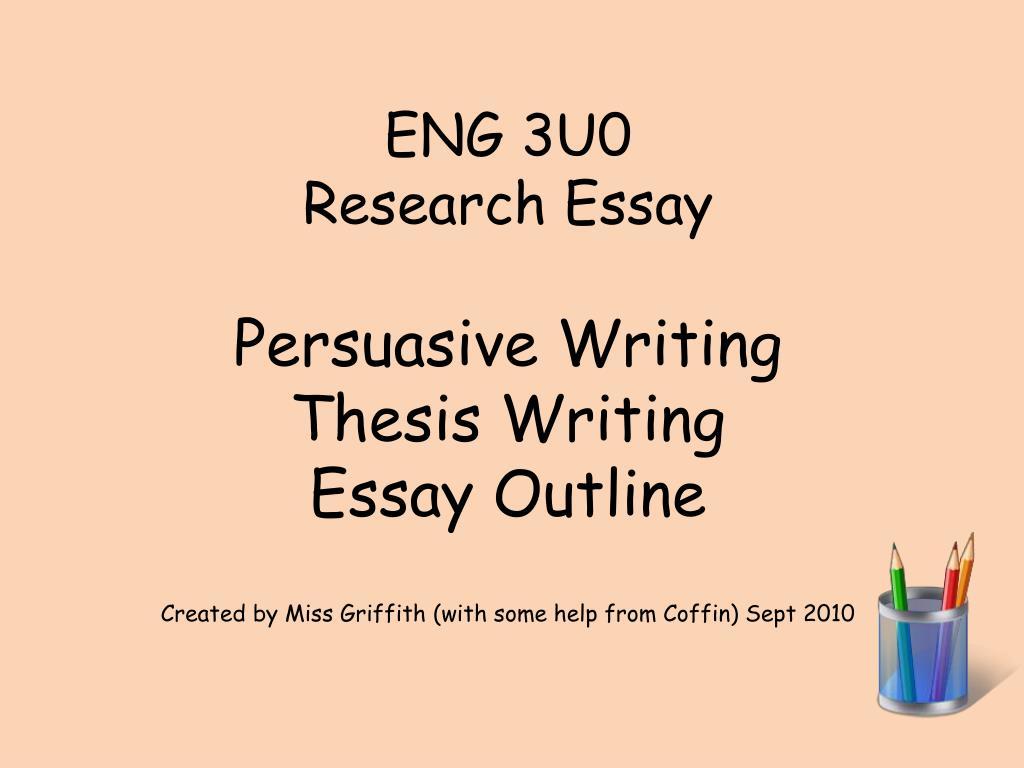persuasive writing essay structure