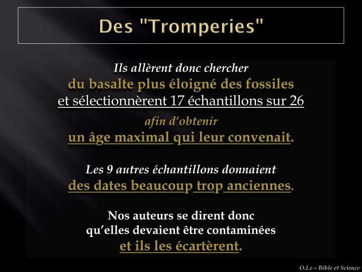 """Des """"Tromperies"""""""