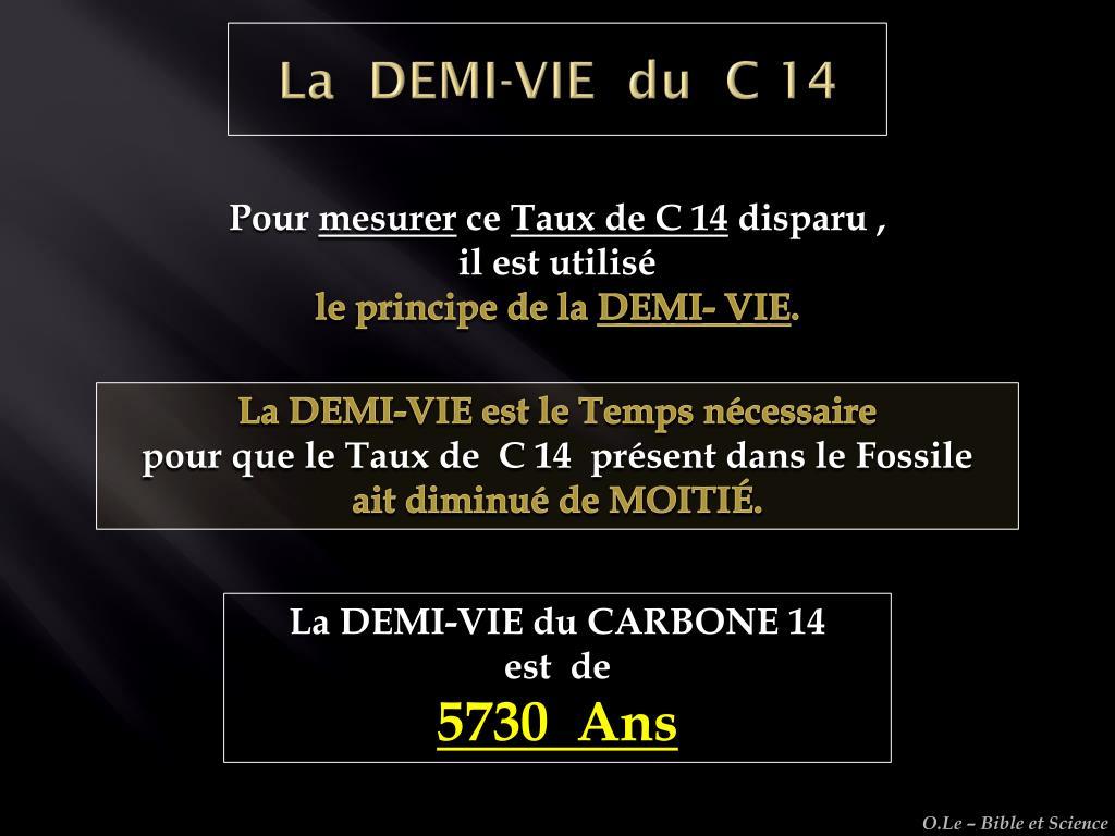 Fossiles de datation du carbone
