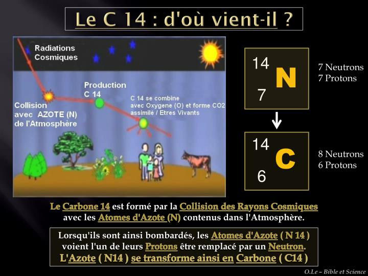 Le C 14 : d'où vient-il