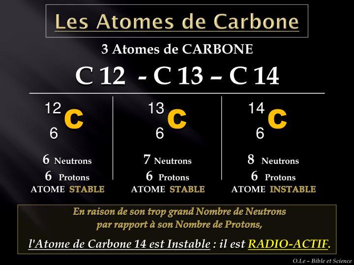 Les Atomes de Carbone