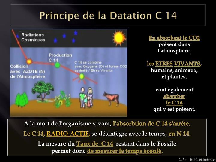 Principe de la Datation C 14
