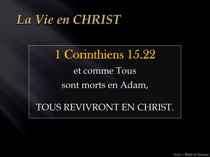 La Vie en CHRIST