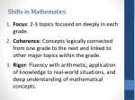 shifts in mathematics