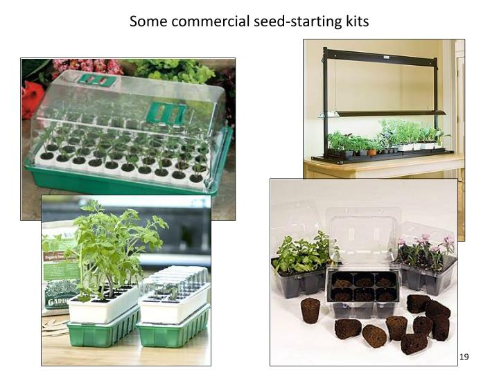 Some commercial seed-starting kits