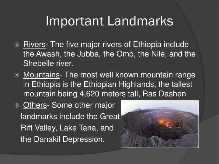 Important Landmarks