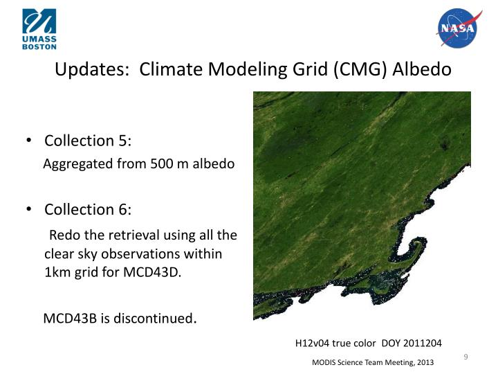 Updates:  Climate Modeling Grid (CMG)