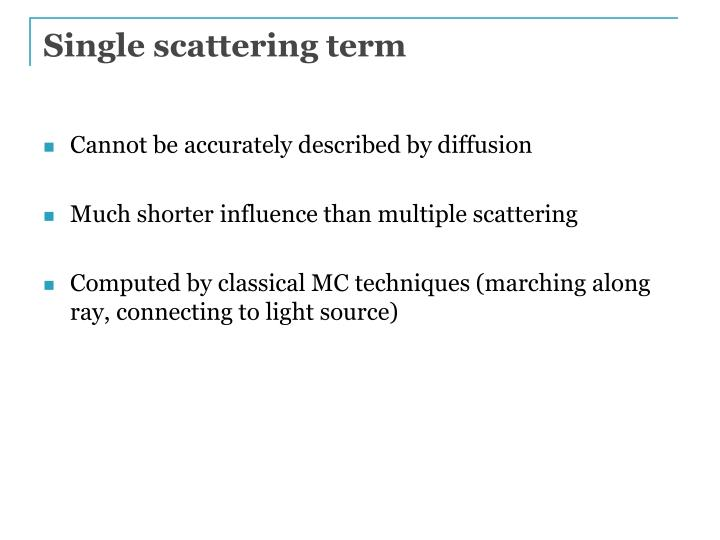 Single scattering term
