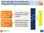 what we want to achieve with financed projects as a result3