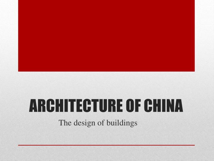 Architecture of China