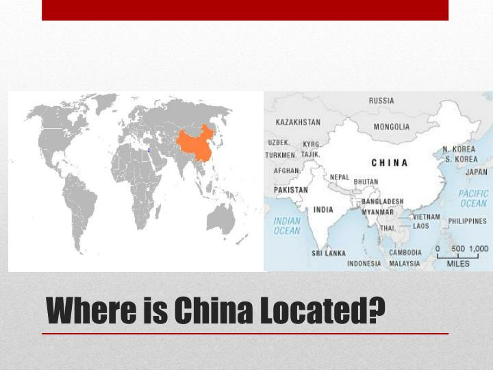Where is china located
