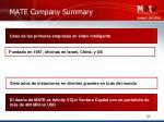 mate company summary