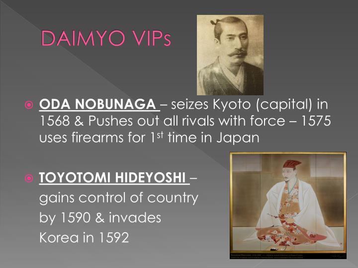 DAIMYO VIPs