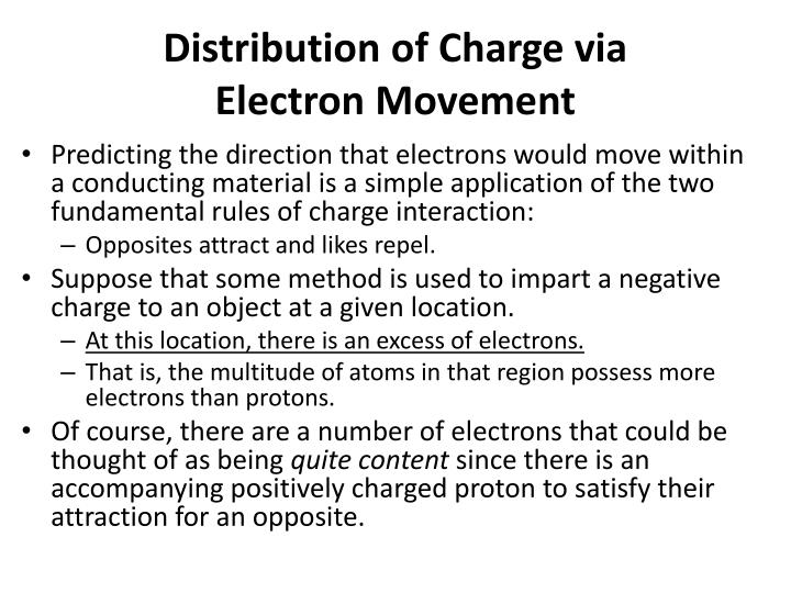 Distribution of Charge via