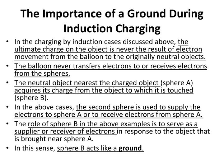 The Importance of a Ground During Induction Charging