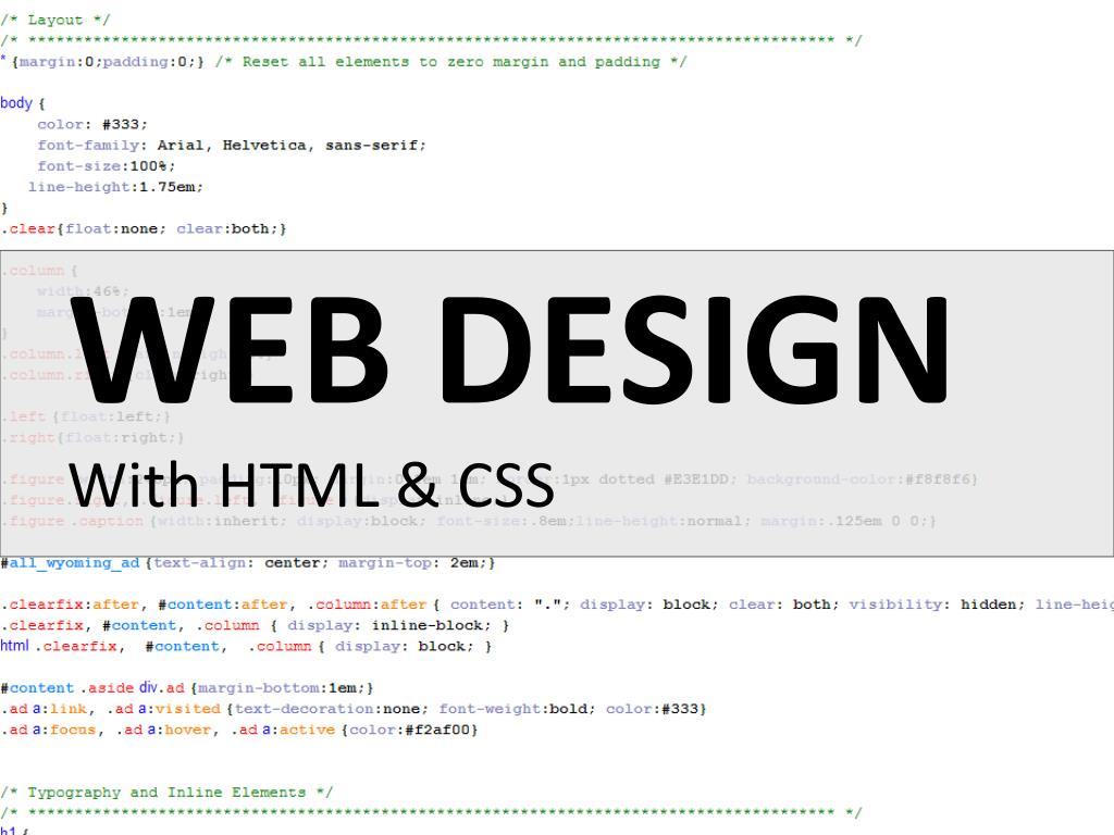 Ppt Web Design With Html Css Powerpoint Presentation Free Download Id 2375184