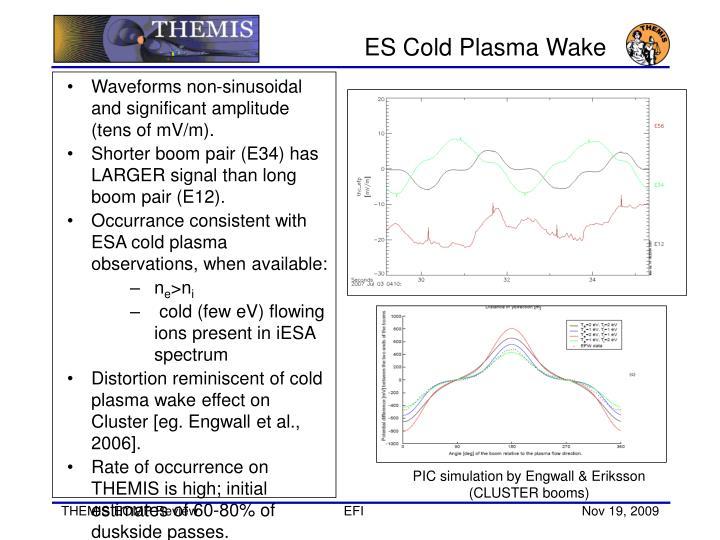ES Cold Plasma Wake