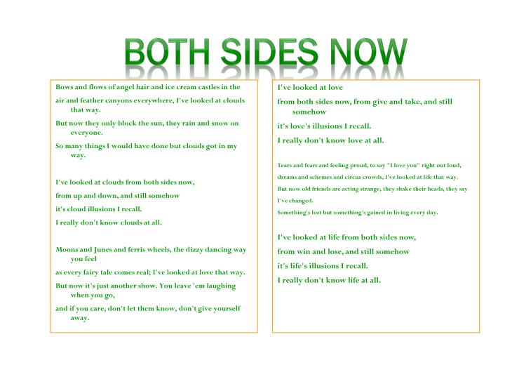 Both sides now