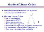 maximal linear codes
