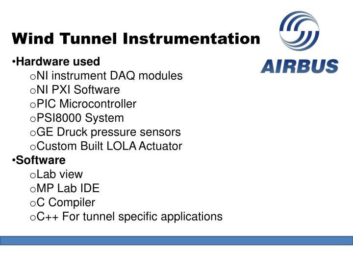 Wind Tunnel Instrumentation