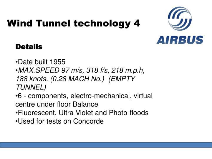 Wind Tunnel technology 4
