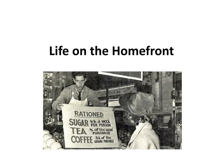 life on the homefront n.