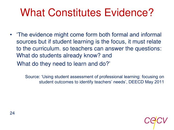 What Constitutes Evidence?