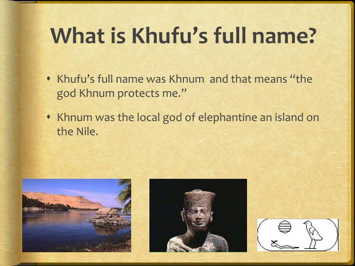 Full Name: The Ancient Egyptian Pharaoh Cheops PowerPoint