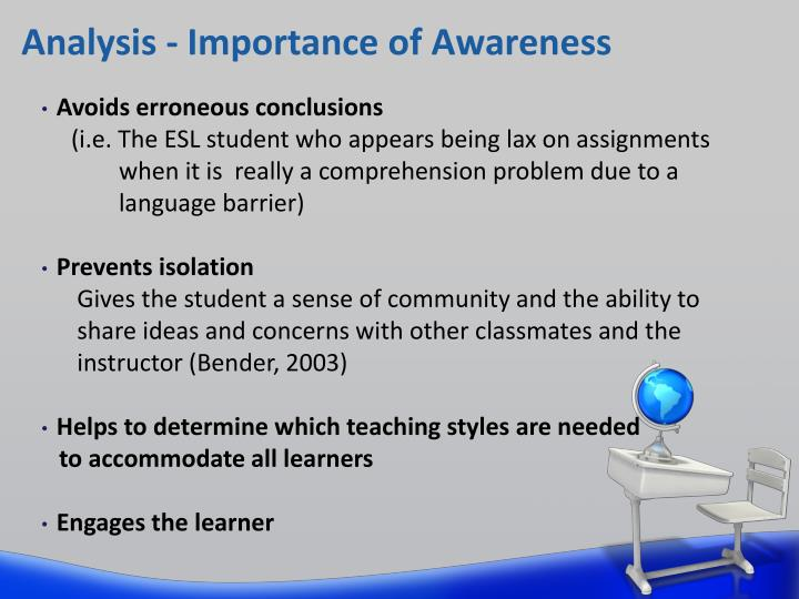 assessment awareness of the importance Purpose: although there is an increasing body of evidence for the important role   key words: assessment, morphological awareness, reading, spelling, written.