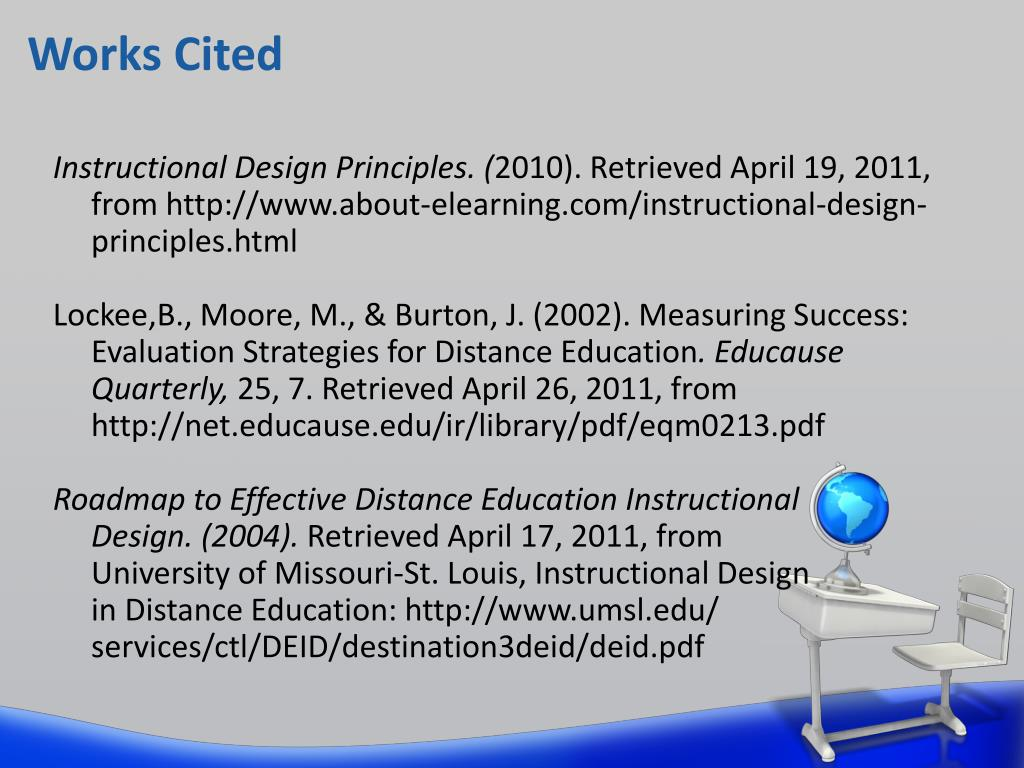 Ppt Improving The Instructional Design Principles Of Distance Education Powerpoint Presentation Id 2376055