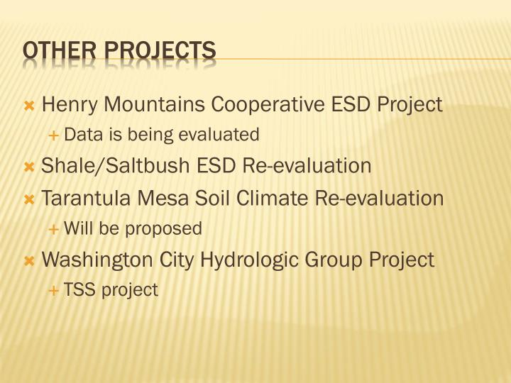 Henry Mountains Cooperative ESD Project