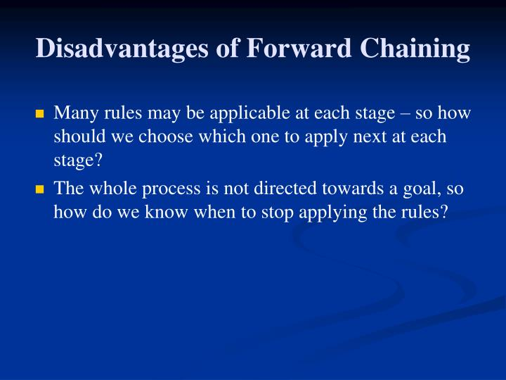 Disadvantages of Forward Chaining