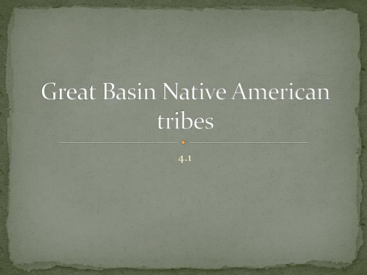 great basin native american tribes n.