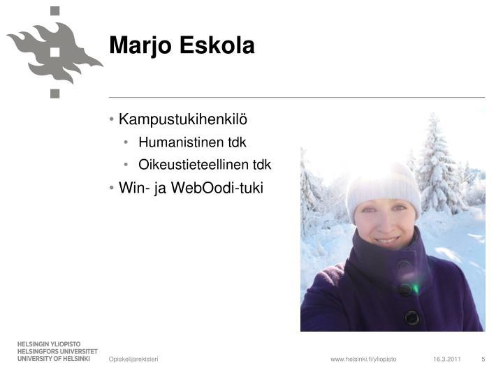 Marjo Eskola