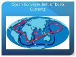 ocean conveyer belt of deep currents