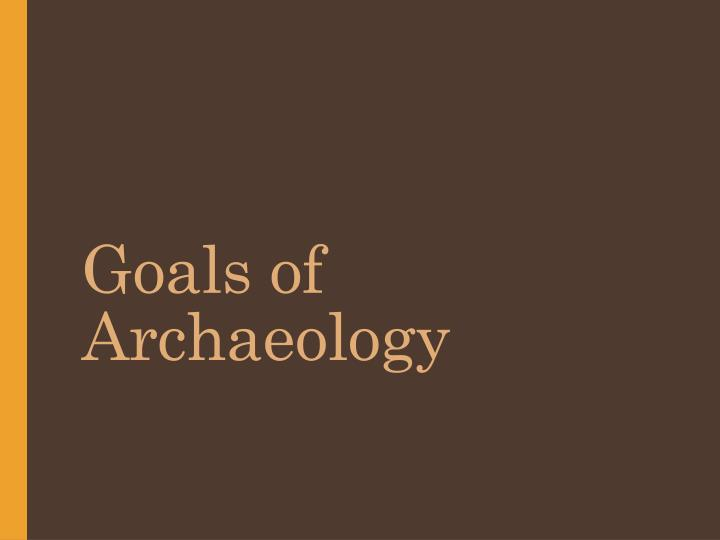 goals of archaeology n.