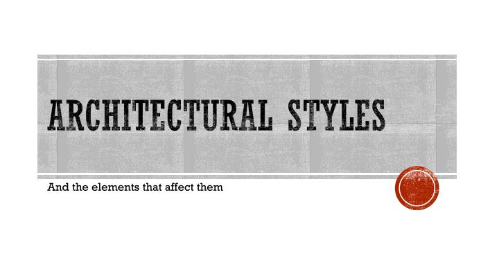 architectural styles n.