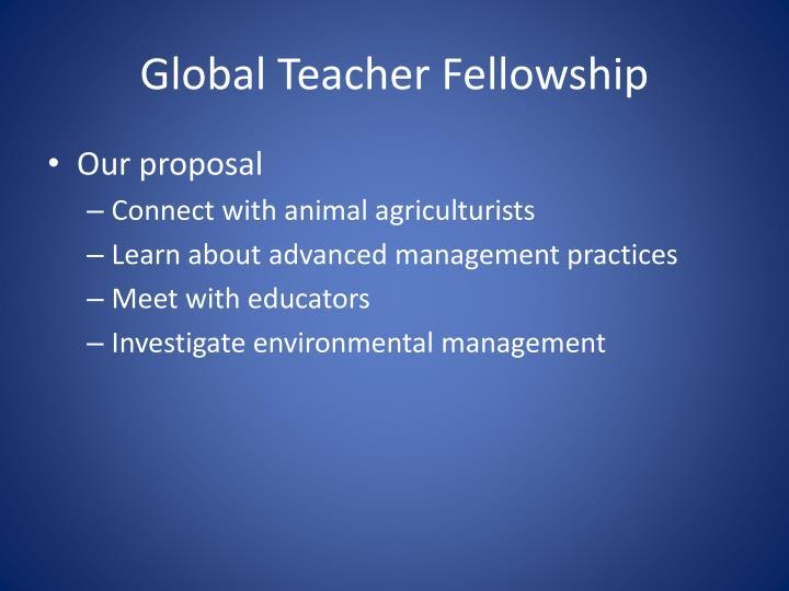Global Teacher Fellowship