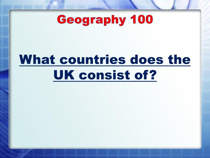 Geography 1 00