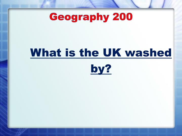 Geography 200