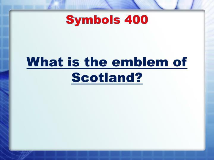 Symbols 400