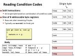 reading condition codes1