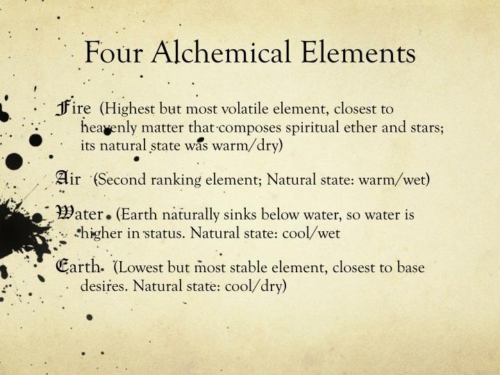 Four Alchemical Elements