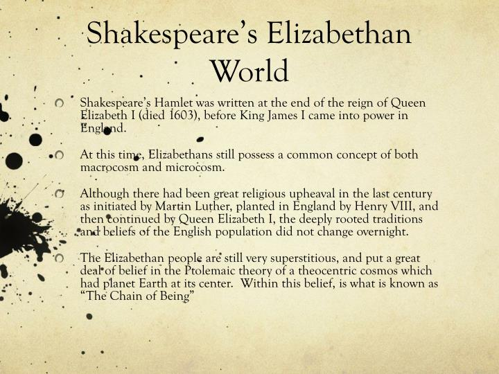 Shakespeare's Elizabethan World
