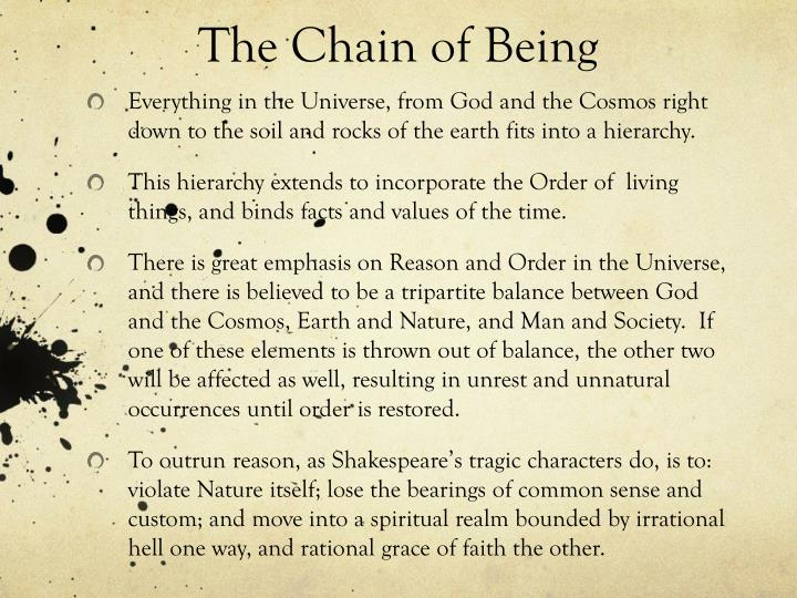 The Chain of Being