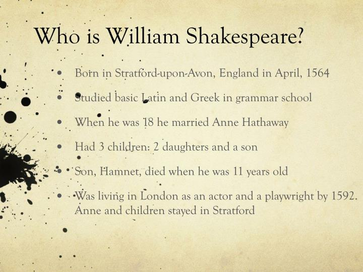 William shakespeare powerpoint ppt download.