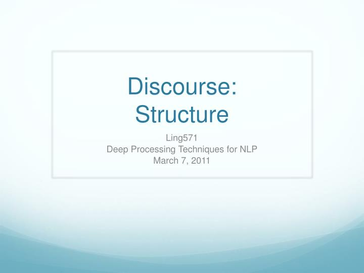 discourse structure n.