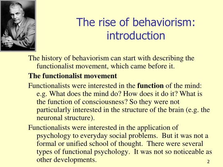 the rise of behaviorism