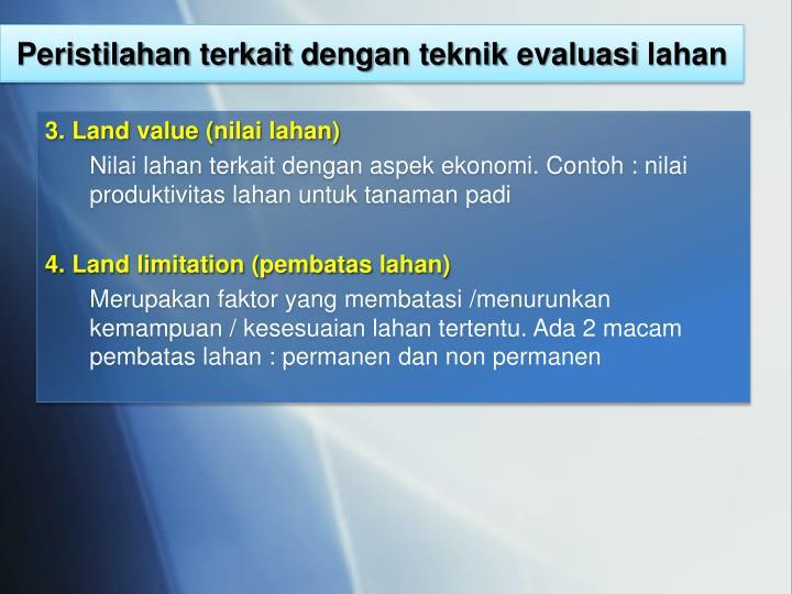 Ppt Evaluasi Sumberdaya Lahan Powerpoint Presentation Id 2376915